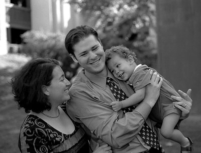 Daniel with his wife Juanita and son Sean, photo by Garett Sohl