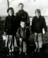 Helen at age 10 with brothers Charlie, Jim and Gordon