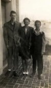 Charles, his mother, Polly and brother, Terry