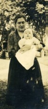 Richard held by his mother Marjorie Henry 1923