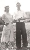 Clark and Dorothy, 1951, in Blue Island
