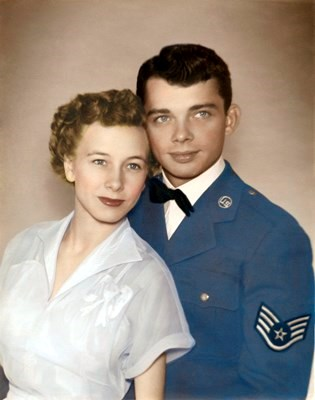 Rose (Dearborn) and Richard Russell Wedding Day. June 11, 1950