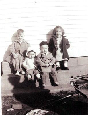 Richard Cote, Deborah Jacques, Bruce Cote and Patricia - April 1950